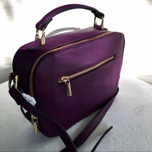 🆕 a new day Purple Crossbody Bag w Gold Hardware